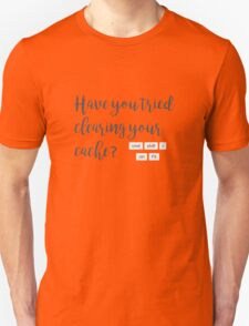 Have you tried clearing your cache? T-Shirt