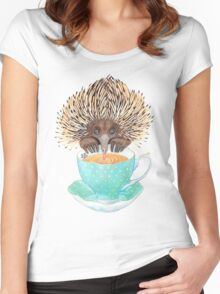 Animal Echidna tea Women's Fitted Scoop T-Shirt