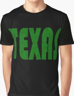 Texas Weed Leaf Pattern Graphic T-Shirt