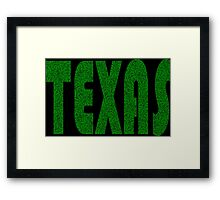 Texas Weed Leaf Pattern Framed Print