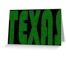 Texas Weed Leaf Pattern Greeting Card