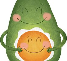 Avocado and Egg by Megs Higgins