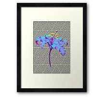 Geometric Lily Framed Print