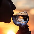 Sunset in a glass... by Qnita
