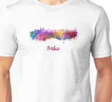 Baku skyline in watercolor Unisex T-Shirt