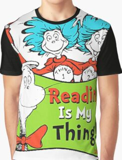 Reading is My Thing Seuss Graphic T-Shirt