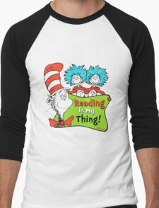 Reading is My Thing Seuss Men's Baseball ¾ T-Shirt