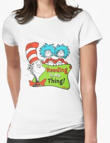 Reading is My Thing Seuss Womens Fitted T-Shirt