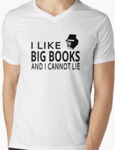 I Like Big Books And I Cannot Lie Mens V-Neck T-Shirt