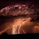 One Hour - Twenty Lightning Bolts In One Frame... by Qnita