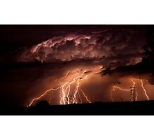 One Hour - Twenty Lightning Bolts In One Frame... Photographic Print