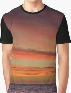 Henley Sunset Graphic T-Shirt