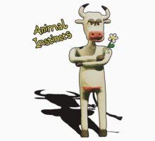 Animal Instincts - Cow Kids Tee