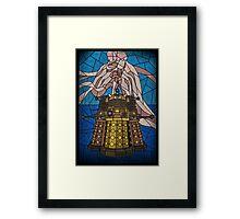 Dalek Stained Glass Framed Print
