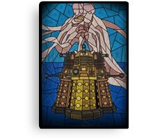 Dalek Stained Glass Canvas Print
