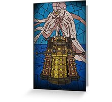 Dalek Stained Glass Greeting Card