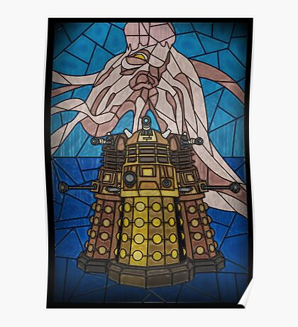 Dalek Stained Glass Poster