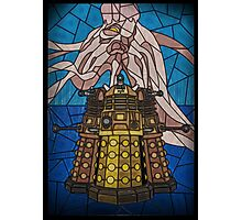 Dalek Stained Glass Photographic Print
