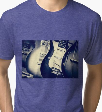 Guitars Tri-blend T-Shirt