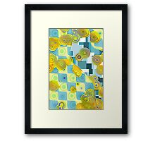 Abstract dot pattern Framed Print