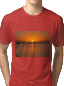 Aitutaki Sunset - Cook Islands Tri-blend T-Shirt
