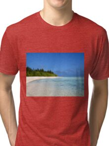 Deserted Beach, Aitutaki - Cook Islands Tri-blend T-Shirt