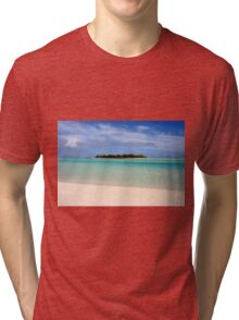 Maina Island, Aitutaki - Cook Islands Tri-blend T-Shirt