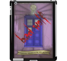 BAD WOLF Whovian stained glass  iPad Case/Skin