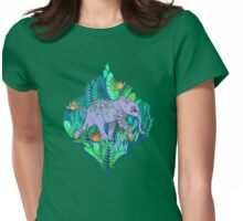 Little Elephant on a Jungle Adventure Womens Fitted T-Shirt