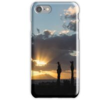 One Very Italian Sunset - Five Cypress Trees on the Shore iPhone Case/Skin
