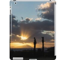 One Very Italian Sunset - Five Cypress Trees on the Shore iPad Case/Skin