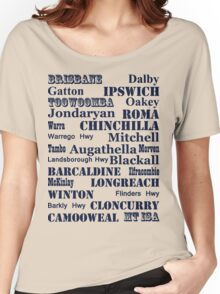 Queensland Route 2014 Women's Relaxed Fit T-Shirt