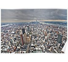 Manhattan Downtown Poster
