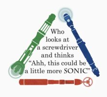 Who looks at a screwdriver... Baby Tee