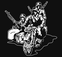 German Military Sidecar Kids Tee