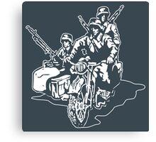 German Military Sidecar Canvas Print
