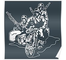 German Military Sidecar Poster