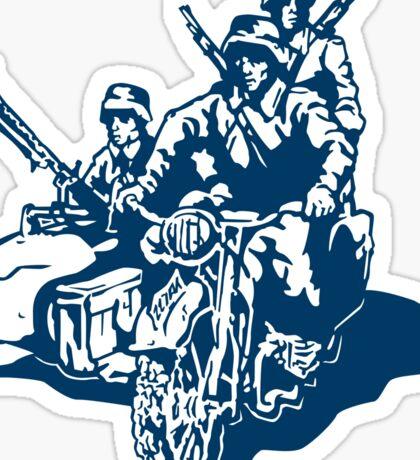 German Military Sidecar Sticker