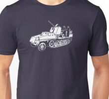 German Halftrack with Flak Gun Unisex T-Shirt