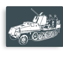 German Halftrack with Flak Gun Canvas Print