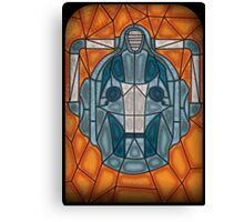 Cyberman stained glass Canvas Print
