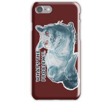 cartoon style illustrtion cool cat  iPhone Case/Skin