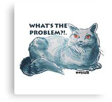 cartoon style illustrtion cool cat  Canvas Print