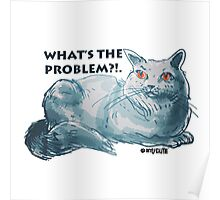 cartoon style illustrtion cool cat  Poster