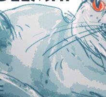 cartoon style illustrtion cool cat  Sticker