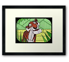 Old Stripy  - stained glass villains Framed Print