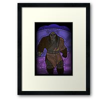 Warlord - stained glass villains Framed Print