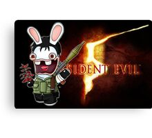 Raving Rabbid Chris Redfield Canvas Print