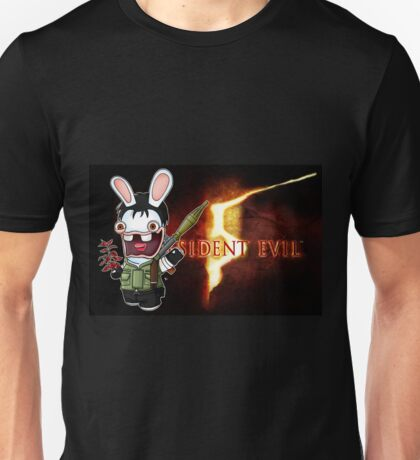 Raving Rabbid Chris Redfield Unisex T-Shirt