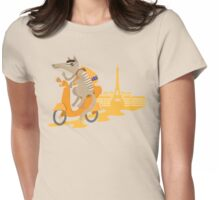 Backpacking Aussie Numbat in Paris Womens Fitted T-Shirt